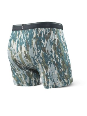 Bokserki Męskie SAXX Quest Boxer Brief Fly PR Bark Camo