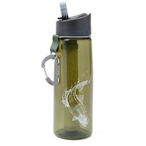 Butelka z filtrem do wody LifeStraw Go 650ml zielony Trout Fish