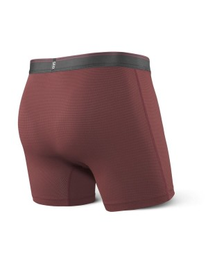 Bokserki Męskie SAXX Quest 2.0 Performance Boxer Fly Brick Red