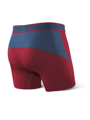Bokserki Męskie SAXX Kinetic Boxer Deep Red/Blue