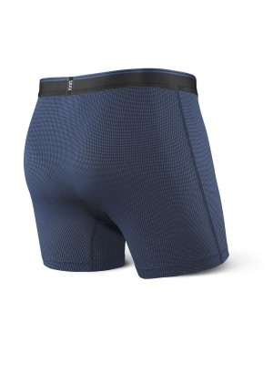 Bokserki Męskie SAXX Quest 2.0 Boxer Fly Midnight Blue