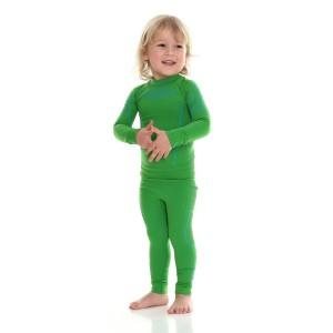 02869a1652cf05 Bluza Termoaktywna Dla Chłopca Brubeck Thermo LS13660 Zielona ...