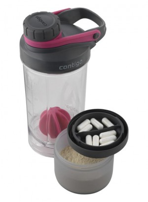 Shaker do odżywek Contigo Shake and Go Fit 650ml Wildberry Pink