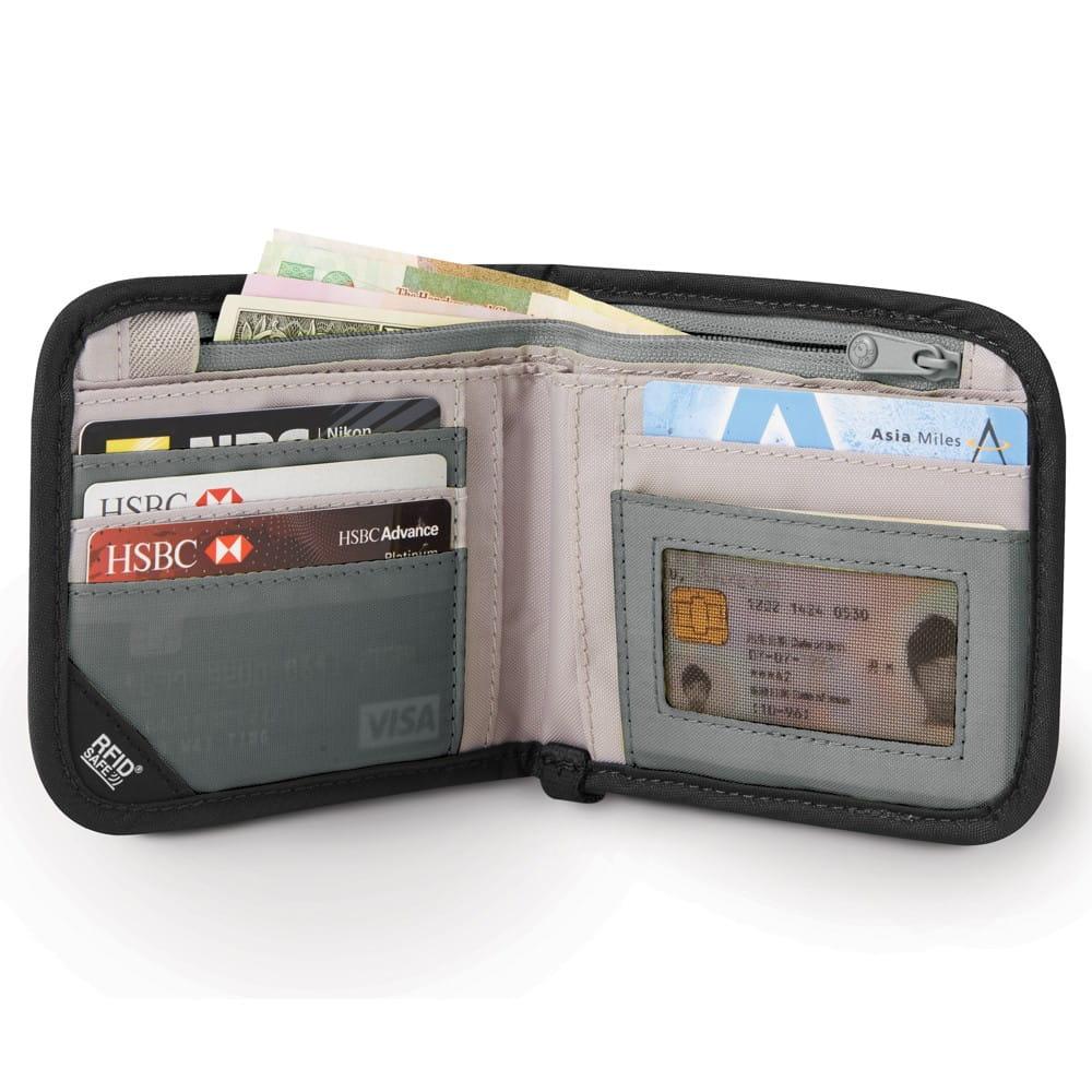 cfa103eb64993 Portfel z ochroną przed kradzieżą Pacsafe RFIDsafe V100 Czarny w ...