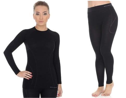 Komplet bielizny damskiej Brubeck Active Wool czarny rozm XL